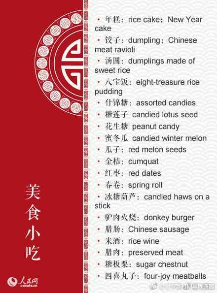 年味十足的99个春节英文词汇