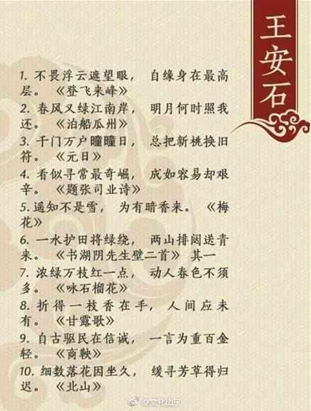 中国古代文人十大经典名句